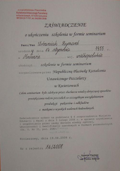 certyfikat odkłady i pakiety